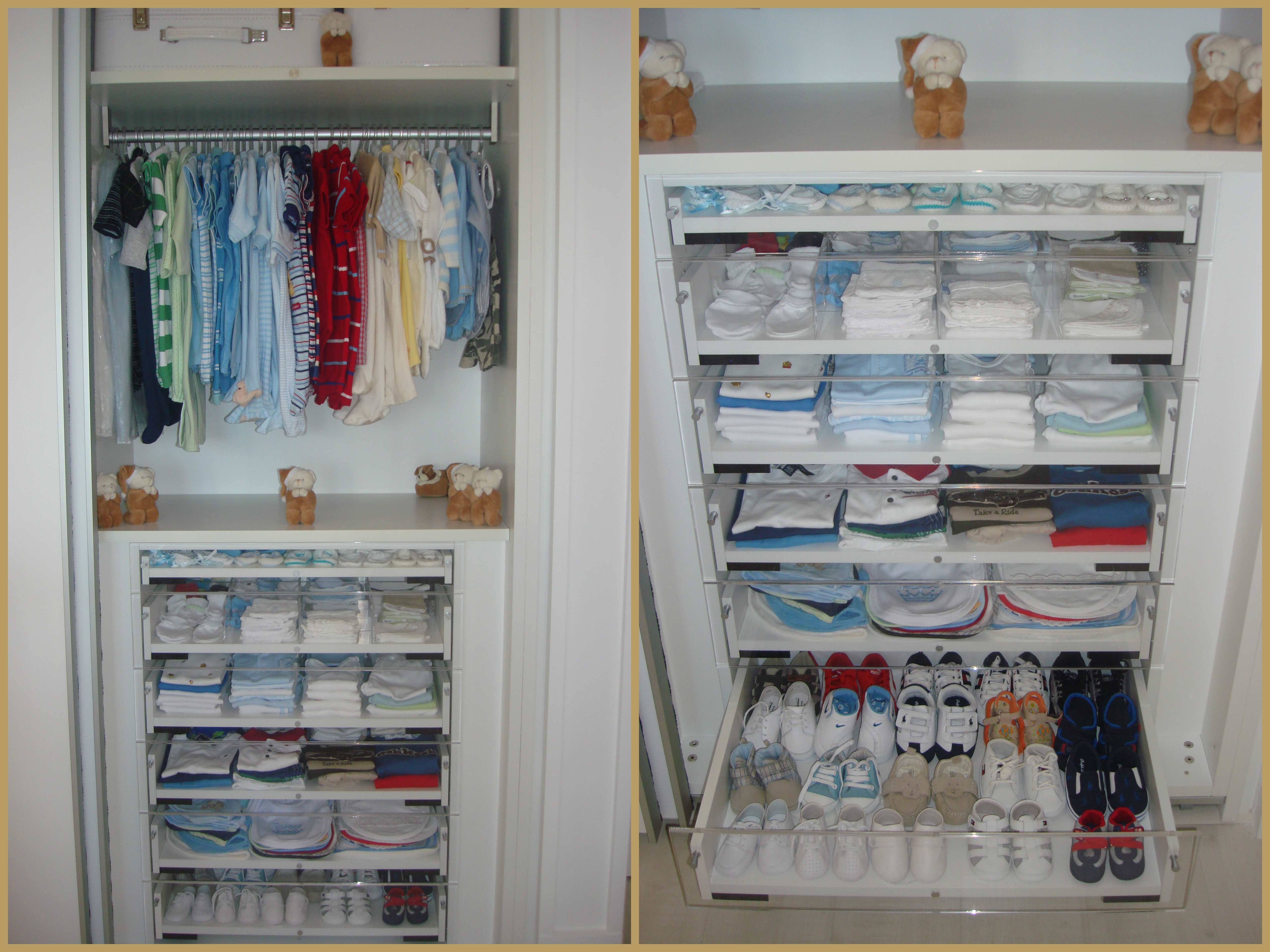 Armario De Parede Para Quarto De Bebe : Quarto de beb? bege e branco
