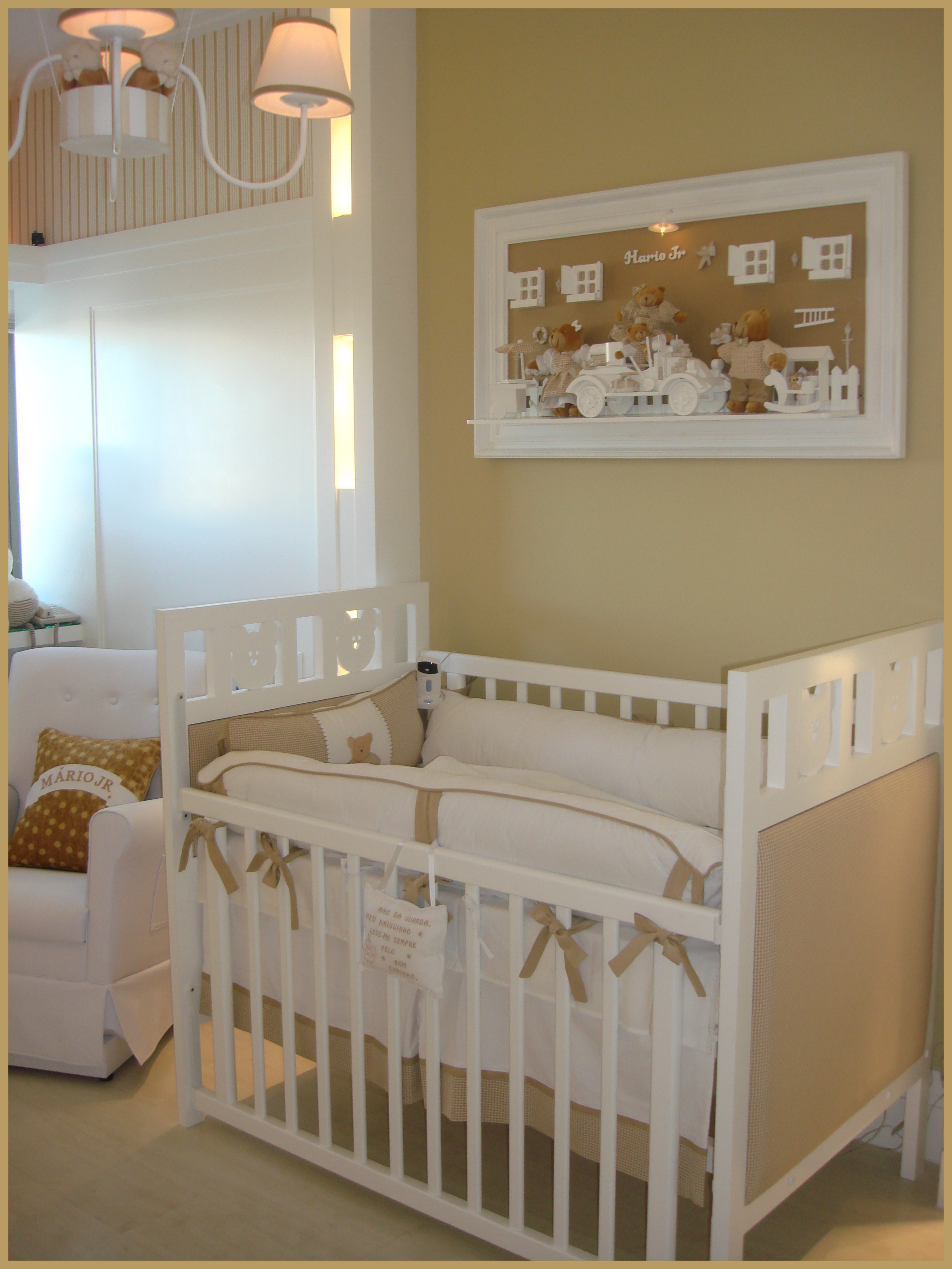 Quarto De Beb Bege E Branco  ~ Imagens De Quarto De Bebe Simples