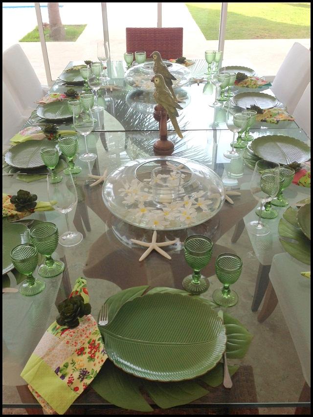 Mesa verde jantar Ana Priscila