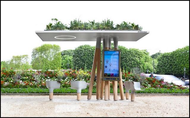 oasis mobiliario jardim:designer francês Mathieu Lehanneur desenvolveu este mobiliário